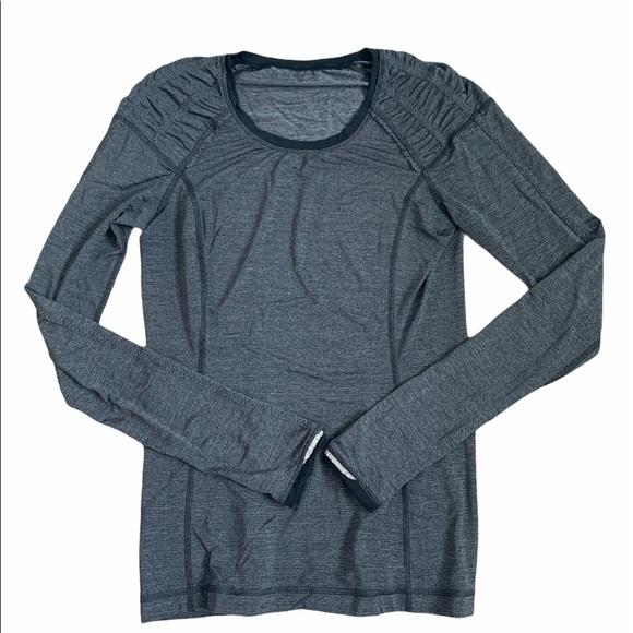 Lululemon Fitted Long Sleeve dark grey